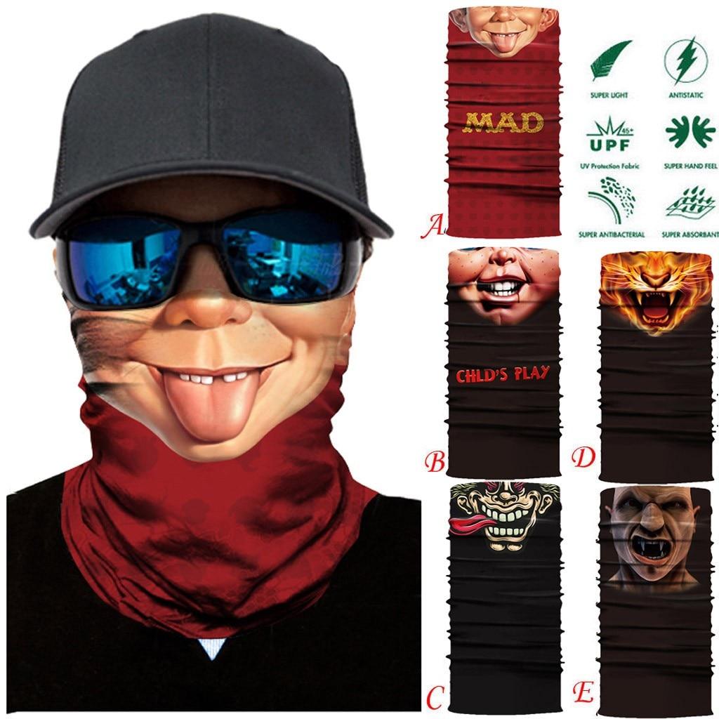 3D Seamless Funny Printing Full Function Ski Motorcycle Bandana Neck Tube Warmer Cycling Biker Scarf Windproof Face Masks(China)