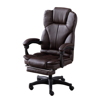 цена на High Quality  Leather Boss Chairs Swivel Gaming Chairs with Footrest Ergonomic Computer Chair Internet Office Furniture