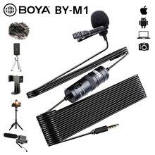 ПК / телефон / камера микрофон BOYA Всенаправленный Петличный конденсаторный микрофон петличка микрофон для телефона Canon Sony DSLR микрофон петличка