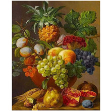 WEEN Various Fruits-DIY Oil Painting By Numbers Kit,Acrylic Paint,Wall Art Picture,Hand Painted Canvas 40x50cm