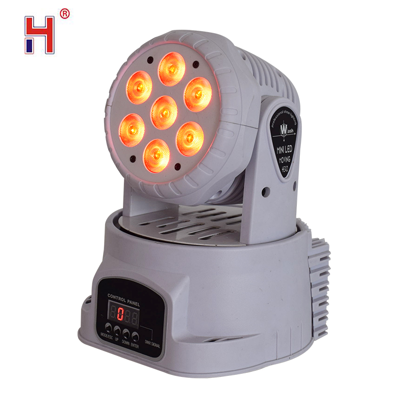 Led 7X12W Wash Light RGBWA 4in1 Moving Head Stage Light DMX Stage Light DJ Nightclub Party Concert Stage Professional