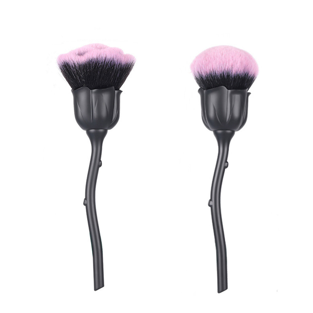 Single Rose Head Brush Nail Art Glittter Power Dust Brush For Manicure Metal Blush Brushes Beauty Tool Gel Nail Accessories