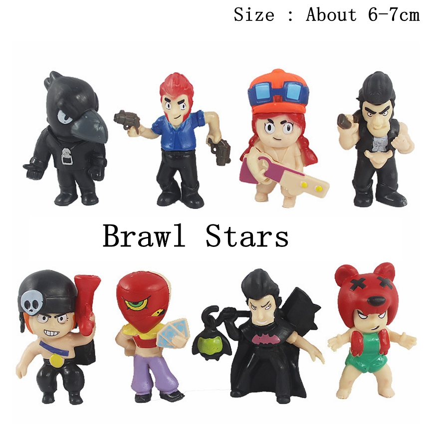 Brawl Stars Action-Figure Shelly Birthday/christ Toys Model-Doll for Children 8pcs/Lot