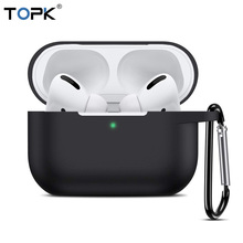TOPK For Apple Airpods Pro Case Silicone Protective Bluetooth Earphone Soft Silicone Cover Bag For A