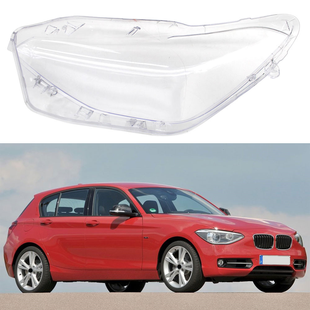 Car Front Headlamps Transparent Lampshades Lamp Shell Masks Front Headlights Lens Cover For BMW F20 2012-2014 image