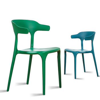 Simple plastic chair Nordic dining chair back chair home creative table chair cafe relaxation