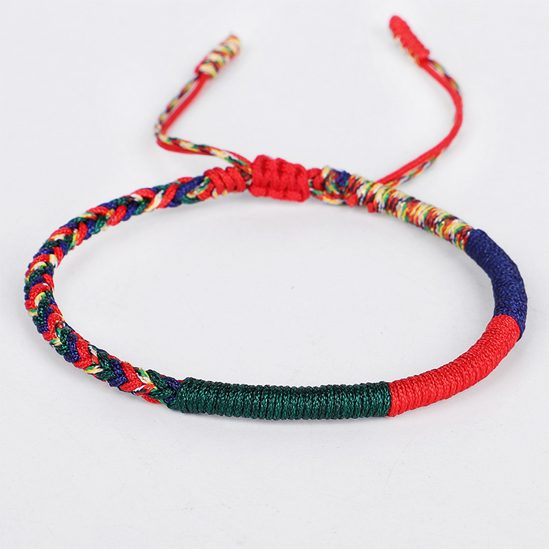 Handmade Tibetan Buddhist Lucky Friendship Bracelets love Charm Bracelets & Bangles For Women Men 4Colors Rope Amulet Gift