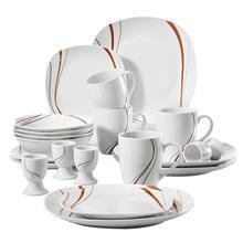 VEWEET BONNIE 20 szt kości słoniowej biały zastawa stołowa porcelany sztućce obiadowy zestaw z 4 * kieliszek do jajka kubek talerzyk deserowy miska talerz obiadowy tanie tanio MALACASA CN (pochodzenie) Taśmy ROUND ceramic BONNIE03