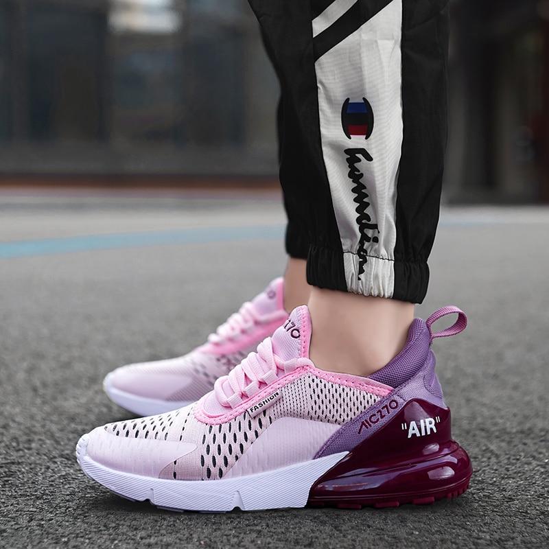 Tenis Feminino 2019 New Fashion Brand Tennis Shoes For Women Air Mesh Soft Pink Black Sneakers Gym Sport Shoes Basket Femme