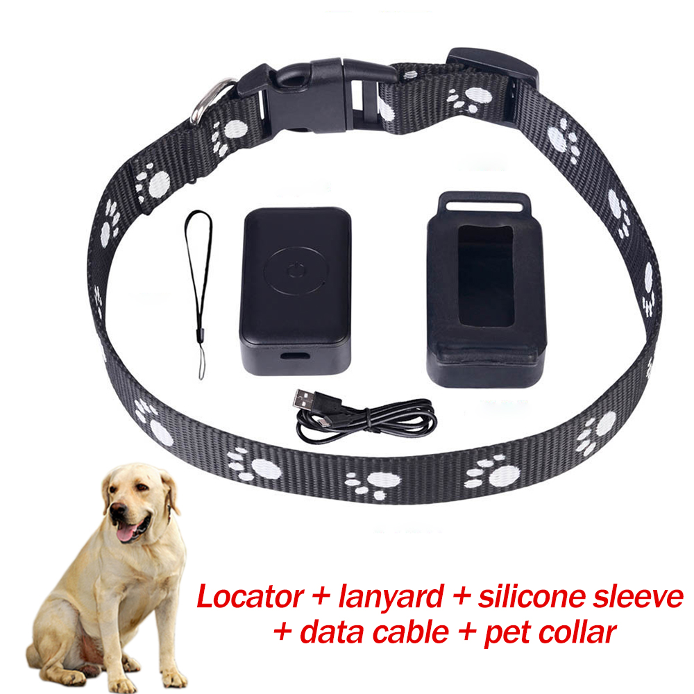 Pet GBS Tracker Collar For Dogs Cats USB Charging Anti-Lost Tracking Device GSM AGPS LBS SOS Monitor For Elderly Children Pets