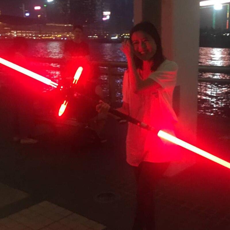 Sabre lumineux épée bâton Force lourd duel Led sabre laser avec Foc verrouiller en métal poignée Blaster son enfants cadeau - 4