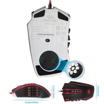 Redragon LEGEND M990 USB wired RGB Gaming Mouse 24000DPI 24 botones ratón de juego programable retroiluminación ergonómico ordenador portátil 2