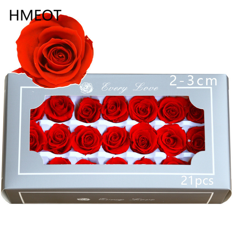 Категория A 21 шт. неувядающий цветок 2-3 см вечная головка розы вечное ведро для объятий сохраненный цветок материал для свадебного букета по...