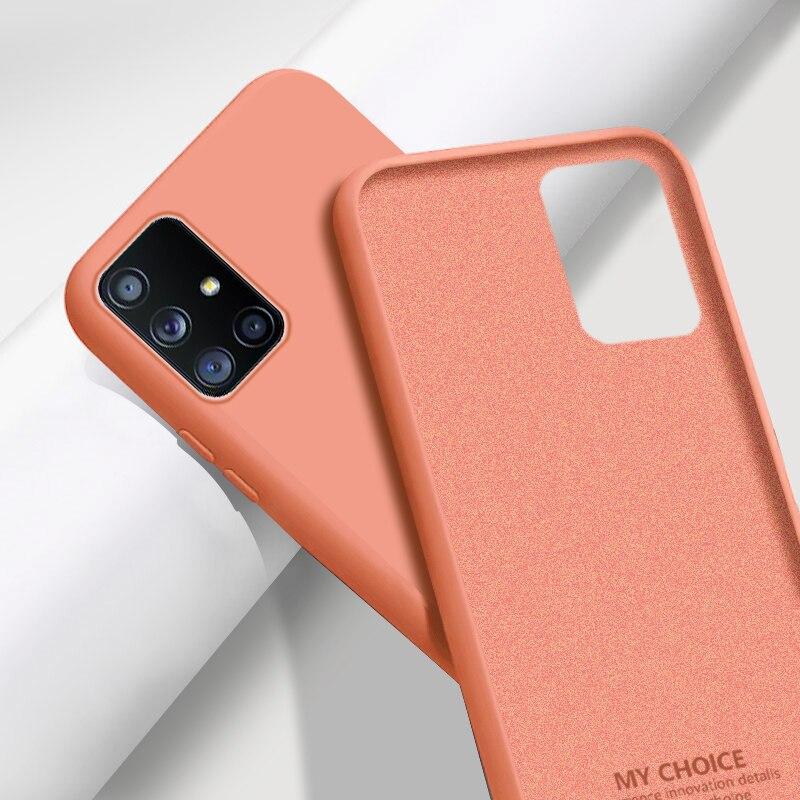 Nouveau Original Silicone Liquide Étui Souple Pour Samsung A51 A50 S10 Plus S8 S9 S20 Note 20 Ultra S10E A71 A70 A21S A30 A31 A41 Coque