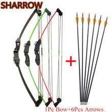 1Set Archery Youth Compound Bow Set Kids Junior Children Practice Training Gift For Outdoor Shooting Target Accessories