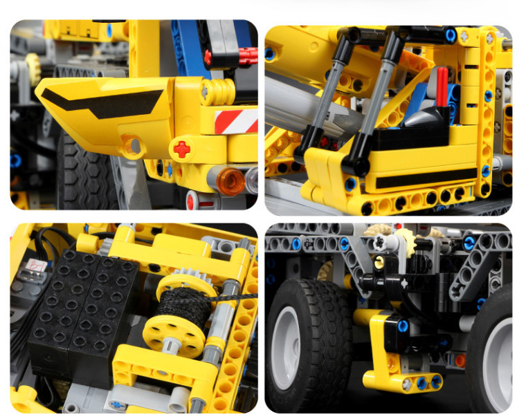 MOULD KING 13107 Compatible 42009 Technic SCrane Mk II Building Block (2590PCS) 10