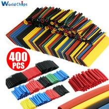 400 stücke Polyolefin Schrumpfschlauch Mischfarbe 8 größen 1-14mm 2:1 Schrumpf Schläuche Draht Kabel sleeves Wrap Draht Sortiment Set
