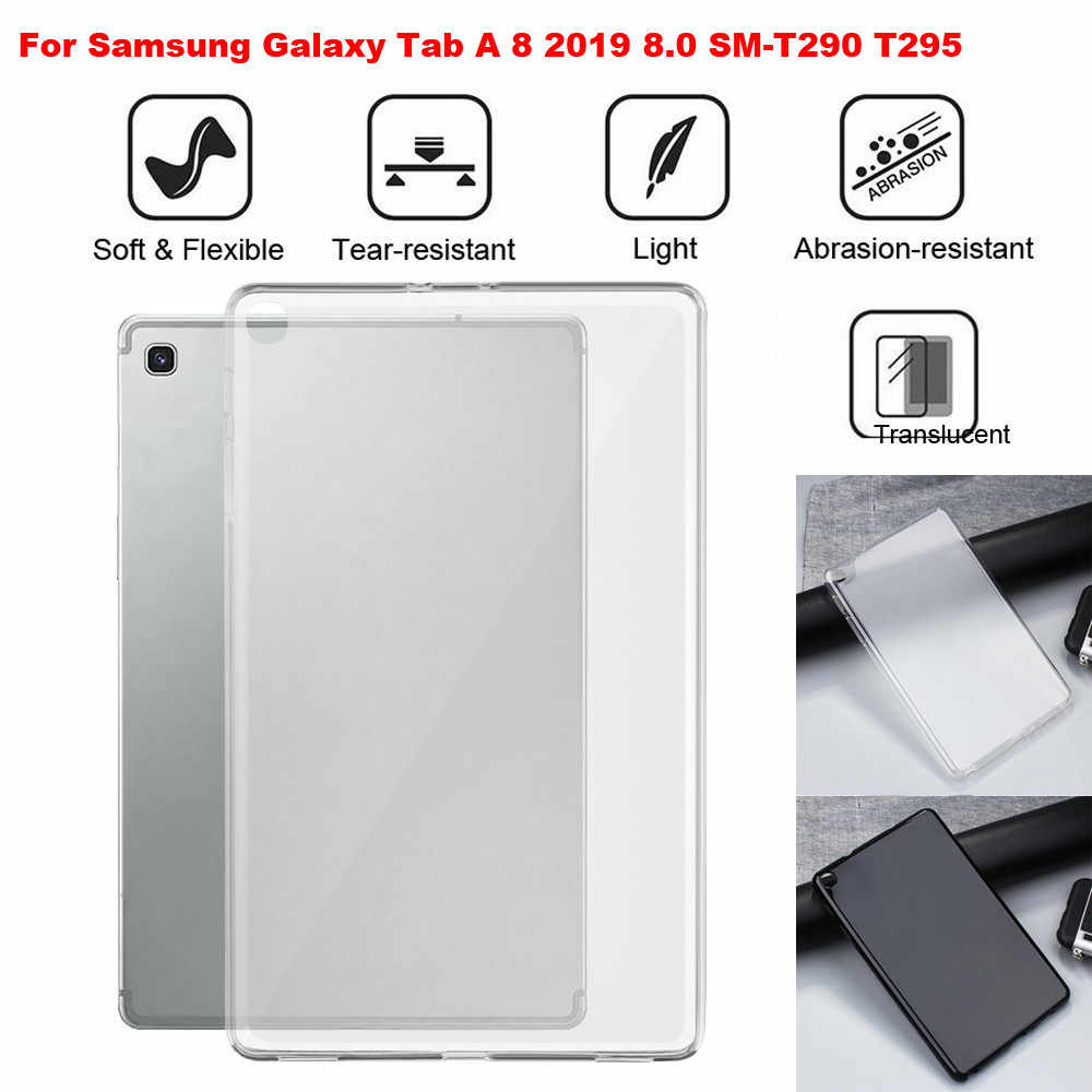 Untuk Samsung Galaxy Tab A 8 2019 8.0 SM-T290 T295 TPU Solf Shock-Proof Case Menutupi Tablet Case Hadiah tablet Shell Tahan Guncangan Case