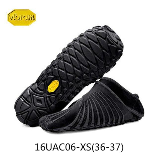Vibram FUROSHIKI Walkingกีฬายืดผ้ารองเท้าผู้หญิงSuper Lightห้านิ้วมือวิ่งพับแบบพกพารองเท้าผ้าใบ
