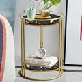 Новый скандинавский мраморный диван  угловой диван для гостиной  небольшой круглый стол  небольшой кофейный столик  Простая кровать