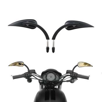 Motorcycle 8mm Rear View Mirrors For Harley Sportster XL 1200 883 Low Rider Sport Glide