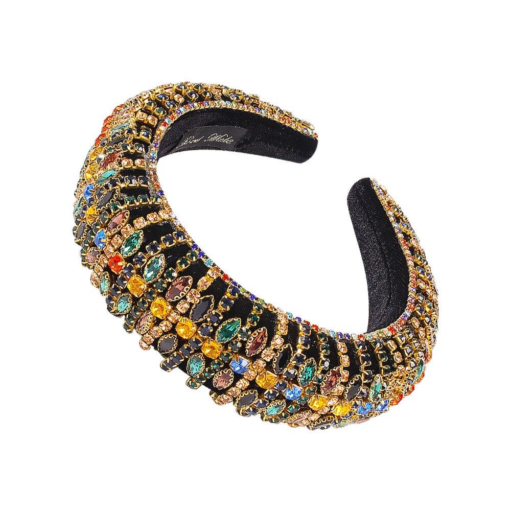 Colorful Crystal Hairbands Rhinestone Padded Headb