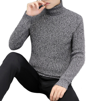 New Mens Sweaters Winter Turtleneck Warm Casual Knitted Pullovers Fahsion Turtleneck Mens Sweaters 2019 Pull Homme Sueter Hombre turtleneck husky turtleneck