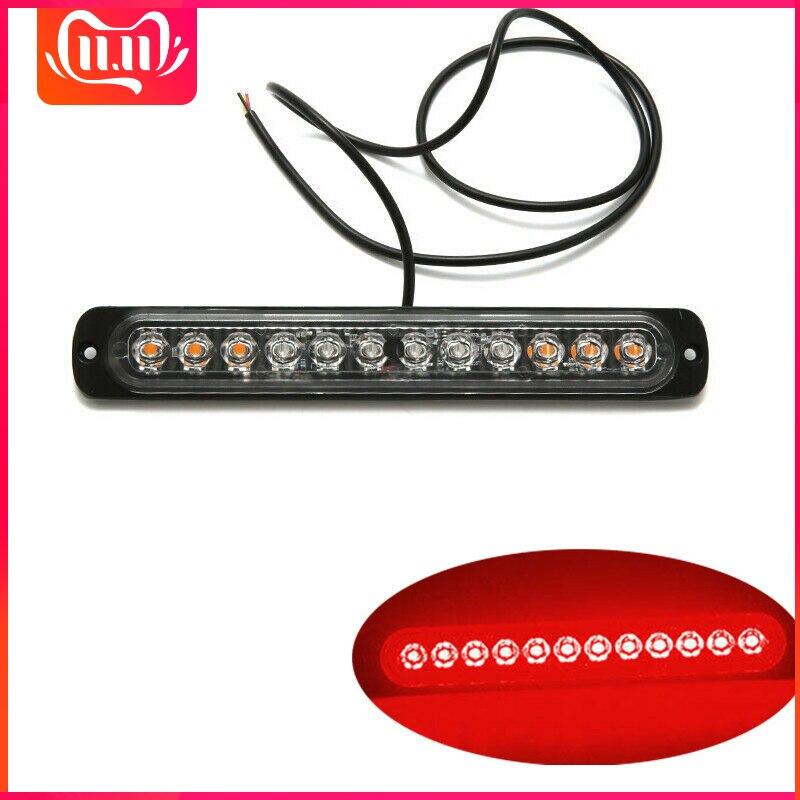Red LED Side Marker Light Trailer Police Strobe Flash Light Dash Emergency Warning Lamp 12V-24V