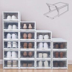 3 шт./компл. коробка для обуви с выдвижными ящиками, утолщенная прозрачная складная коробка для хранения обуви, экономит место, пластиковые о...