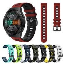 Correa de silicona para reloj Huawei GT 2E, banda reemplazable para pulsera de marca, de diferentes colores