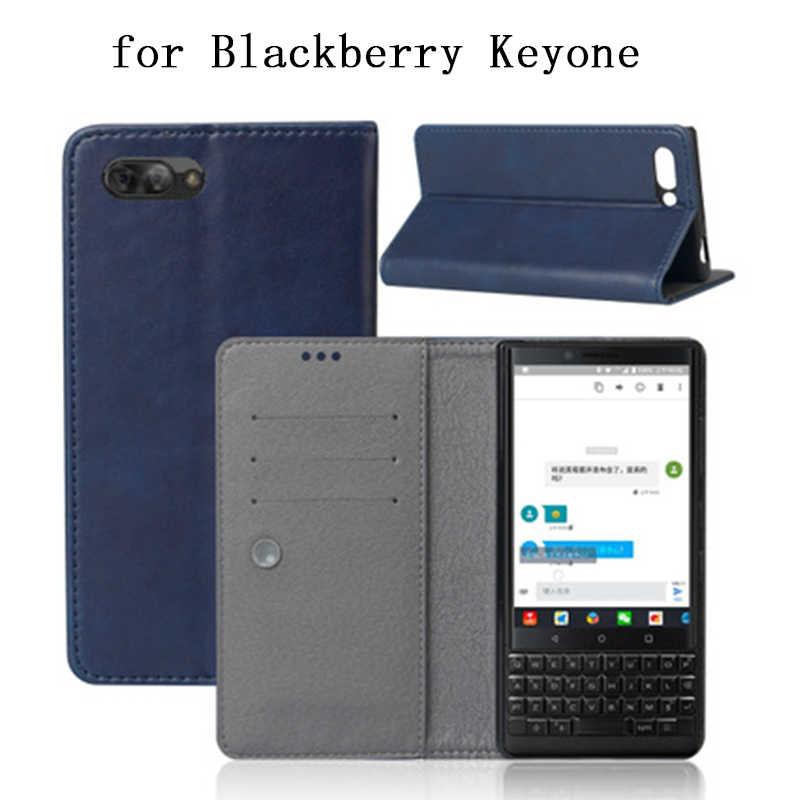 Pour Blackberry KEYone étui 2018 nouveau portefeuille à rabat d'affaires étui pour Blackberry KeyOne en cuir PU mince téléphone Fundas peau mode