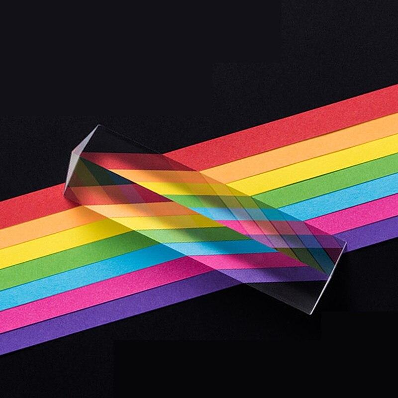 25x25x80 Millimetri Triangolare Prisma BK7 Ottico Prismi Di Vetro Insegnamento Della Fisica Luce Rifratta Spettro Arcobaleno Dei Bambini Studenti Presente