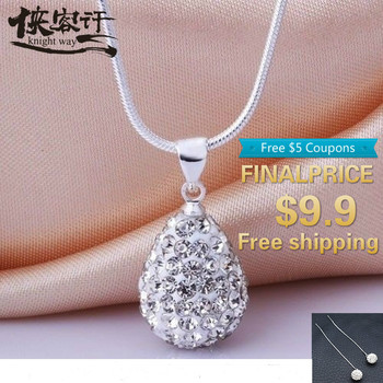Fashion new products simple popular inlaid crystal necklace clavicle chain sweater chain image
