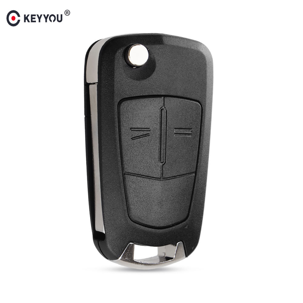 KEYYOU 2 Buttons Flip Remote Folding Car Key Fob Shell Case For Opel Vauxhall Astra Zafira Frontera Omega Vectra Auto Key Case