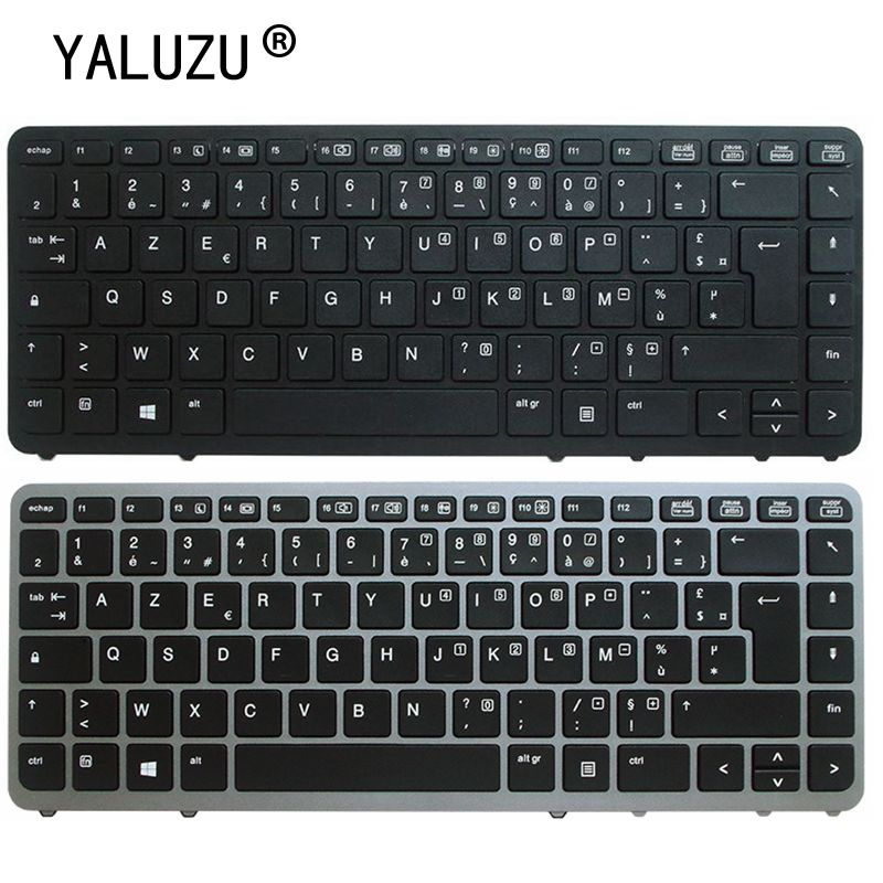 YALUZU French Azerty Replacement Keyboard For <font><b>HP</b></font> Elitebook 840 <font><b>G1</b></font> G2 <font><b>850</b></font> G2 FR No backlight image