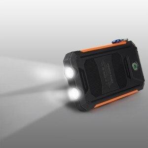 Image 5 - 30000 mAh wodoodporny Powerbank na energię słoneczną podwójny USB z SOS ładowarka LED Travel Powerbank na wszystkie telefony z całego świata