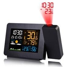 FanJu будильник проекционные часы термометр гигрометр Беспроводная метеостанция цифровые часы Повтор Настольные часы проект радиочасы
