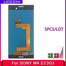 Ensemble écran tactile LCD de remplacement, pour Sony Xperia M4 Aqua E2303 E2306 E2353 E2333, 5 pièces