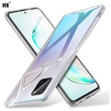Funda de silicona para Samsung Galaxy S10 Lite, carcasa suave de TPU, transparente, ajustada, para Galaxy Note 10 Lite