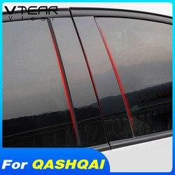 Vtear voor Nissan Qashqai J11 dualis 2 accessoires venster BC pijler cover sticker Exterieur auto-styling trim decoratie onderdelen 2019 2016 2017 2018 2020