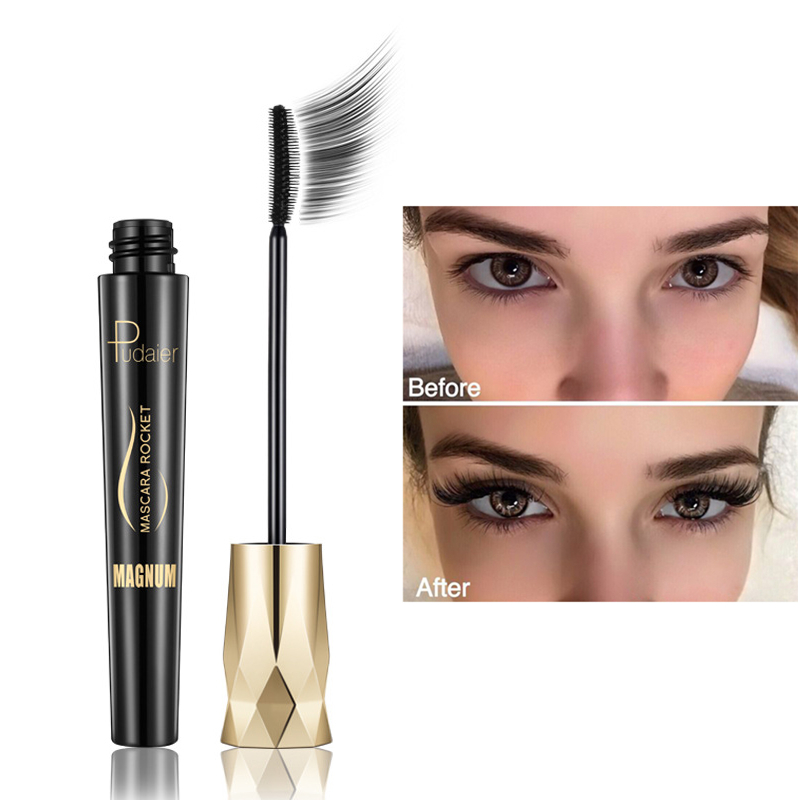 New 4d Fiber Lash Mascara Waterproof Black Eye Silk Eyelashes Mascara Lengthening Volume 3d Sexy Pudaier Eyebrow Makeup Mascara image