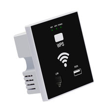 Wall Wifi Router 300Mbps Access Point Wireless Socket Ap With Rj45 Usb Wps Encryption For Home Hotel Project Support Ac Manageme(China)