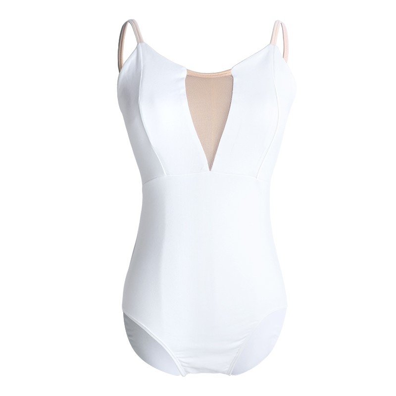 Image 3 - Women Girls Sexy Black White Ballet Dance Leotard Camisole Gymnastics Leotards Adults Bodysuit Swimsuit S,M, L,XL,XXL For WomenBallet   -