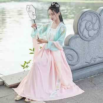 Classic Hanfu Women Chinese National Dance Costumes Singers Stage Wear Festival Outfit Oriental Performance Folk Dress DC2689