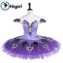 women lilac fairy doll performance ballet tutu adult professional sleeping beauty pancake BT9260