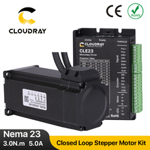 Cloudray Nema 23 Stepper Motor with Encoder 3.0N.m Closed Loop Stepper Motor Driver Easy Servo Driver with 1.5m Free cable