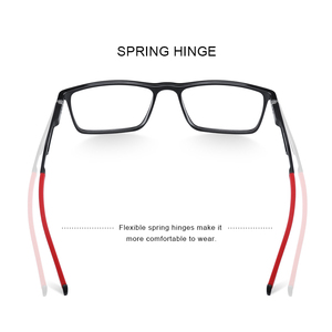 Image 3 - MERRYS DESIGN Men Sport Glasses Frame Myopia Prescription Eyeglasses Acetate Frame Aluminum Temple With Silicone Legs S2270
