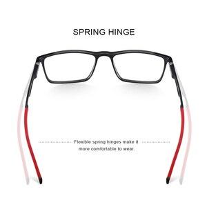 Image 3 - MERRYS 디자인 남자 스포츠 안경 프레임 근시 처방 안경 아세테이트 프레임 실리콘 다리 s2270와 알루미늄 사원