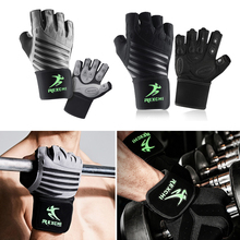 1 пара полупальцев перчатки с тренажерным залом фитнес-запястье унисекс перчатки для тренировки силовой защиты
