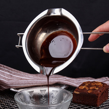 Kitchen Stainless Steel Butter Chocolate Melting Pot Pan with Handle Furnace Heating Milk Bowl Baking Pastry Tools Double Boiler baking tools chocolate melting furnace diy handmade chocolate mechanical and electrical heating melting pot